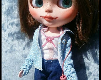 Custom blythe doll 'Tia' layaway available