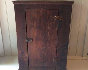Primitive Cupboards/Primitive Cabinet/Antique Cupboard/Small Antique Cabinet /Rustic Cupboard/