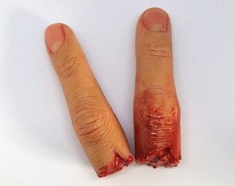 Severed Silicone Finger Prop - Realistic Prosthetic -  Halloween - Human - FX - Movie Prop - Prank - Present