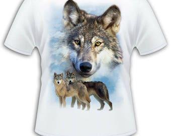 White T-shirt - man - Wolf Pack