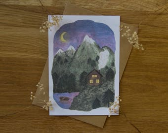 Cabin In The Woods - Greeting Card