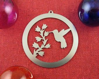 Hummingbird Christmas Ornament, Stainless Steel, Christmas Ornaments, Christmas Decoration, Tree Ornament, Christmas Decor, Ornament