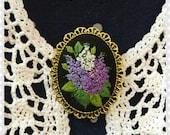 LB2 Lilac brooch