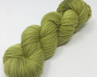 Pea Soup Indie Dyed Yarn on Merino cashmere Nylon MCN gold green gray tonal