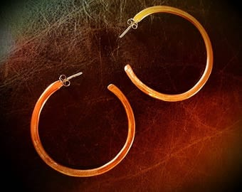 """Inspirals 100% Handmade Copper Hoop Earrings-2"""" dia. Lightweight! FREE SHIPPING for all U.S. orders!"""
