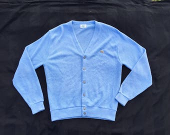 90's Lacoste Baby Blue Cardigan Great Condition Size M - L