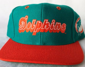 Vintage Miami Dolphins Snapback Hat - Dolphins 90s Vintage Snapback Cap