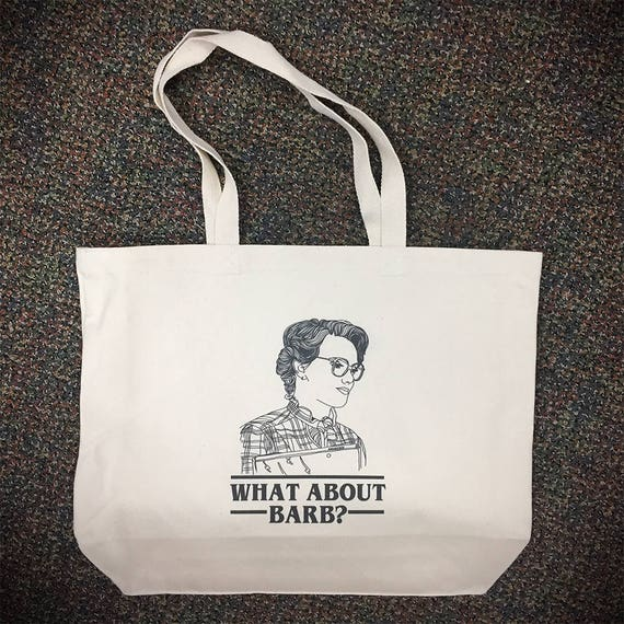 What about barb netflix tote bag large stranger things