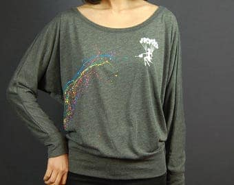 Giving the rainbow water to Berlin,  Long sleeve, Pullover, Tops,
