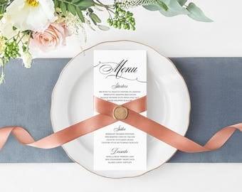 Wedding Menu, Wedding Dinner Menu, Reception Menu, Dinner Menu, Wedding Reception Menu, Alexa Suite Menu
