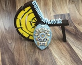 Columbo - Lieutenant LAPD (Early) Detective Badge 416 - 3d Printed - FREE DELIVERY