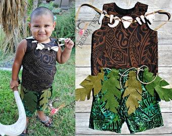 Muai Toddler Costume,  Maui Child Costume, Moana Maui Outfit, Toddler Maui Oufit, Toddler Maui Costume