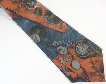 Stylish Silk Tie for Historian or Antique Dealer Sazzari Made in Italy Necktie