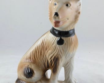 Vintage Ceramic German Shepherd Dog Figurine, Brazil