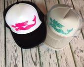 Mermaid, mermaid fashion, mermaid hat, mermaid trucker hat, mermaid snapback, im a mermaid, mermaid love, mermaid trucker hats