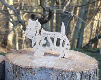West Highland  Terrier  dog jigsaw