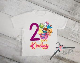 Shopkins Birthday Shirt - Shopkins Shirt  - Birthday Shirt - Girls Birthday Shirt - Personalized Shirt - Custom Shirt