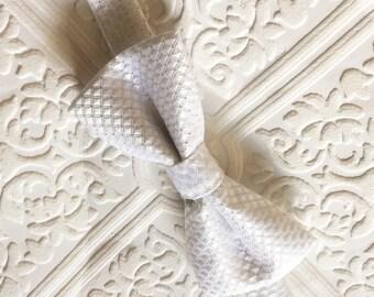 white bow tie, classic white bow tie, white baby bow tie, baby bow tie, toddler bow tie, white toddler bow tie, wedding boy tie, bow tie