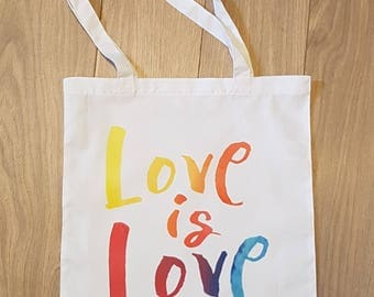Love is Love , sublimated tote bag