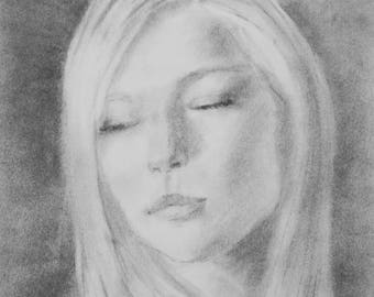CUSTOM Charcoal Portrait - custom charcoal drawing - custom charcoal art - custom portrait drawing
