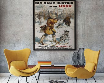 Russia Poster Russian Poster Russian Travel Print Russian Print Russian Wall Art Russian Decor Russian Propaganda Russia Art Propaganda Art