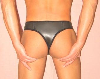 Men's swimwear string lingerie sexy underwear gay 3mm smooth skin neoprene new unique