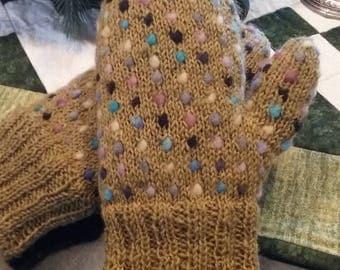 Hand Spun Thrummed Mittens-Women's