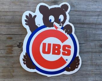Chicago Cubs Sticker 1960's