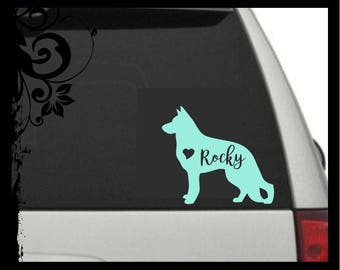 German Shepherd Car Decal, German Shepherd Decal, German Shepherd Vinyl Decal Dog Car Decal, Pet Car Decal / tumbler / laptop / phone / pup