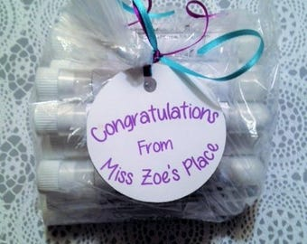 10 Wedding Favors, Wedding Guest Favors, Handmade Bath Salt Favors, Wedding Favors, Bridal Shower Favors, Bridal Party Favors