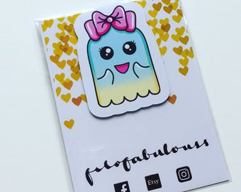 Cute Ghost Magnetic Book Mark - Page Marker