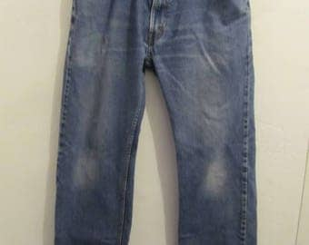 Men's,Vintage,Faded Blue STRAIGHT Fit Jeans by LEVI'S 505.34x30