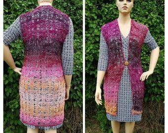 Crochet large xlarge Spider Queens Webbed Vest Pattern DIGITAL DOWNLOAD ONLY