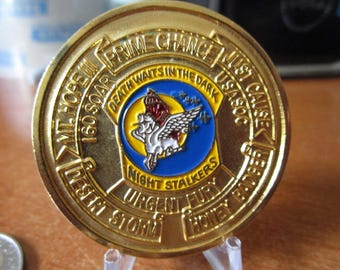 United States Army * 160th Special Operations Aviation Regiment * SOAR (A) Night Stalkers Challenge Coin #3722