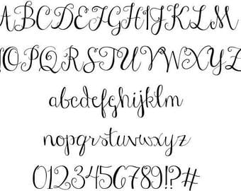 Curly Stylish font! Perfect for monograms