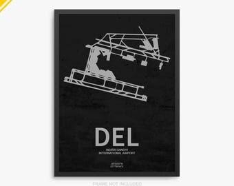 DEL Airport, Indira Gandhi International Airport, Delhi India, DEL Airport Poster, Delhi Airport, Delhi International, Delhi Airport Poster