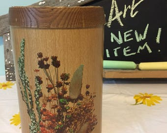Bohemian style Cheinco Canister.