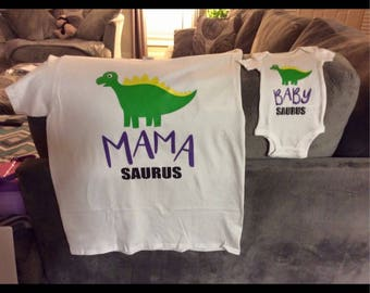 Momma and baby shirt set