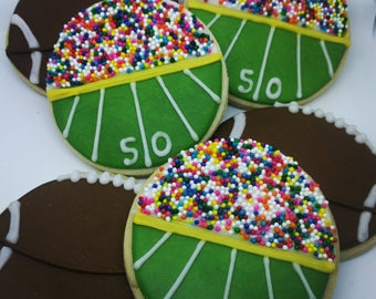 Custom Football Cookies_Super Bowl_Tailgating_Party Favors