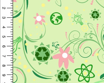 Recycle-N-Generate Stretch Cotton Woven, Recycle Symbol, Recycle Print Fabric, Cotton Material, Stretch Woven Fabric, Stretch Fabric, Fabric