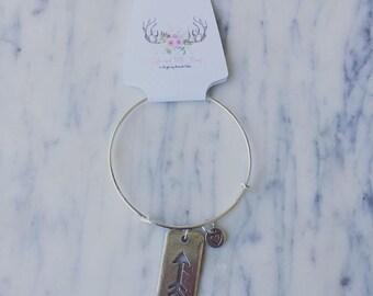 Arrow & Heart Charm Bracelet