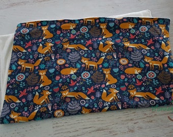 Forest fox baby/toddler snuggle blanket