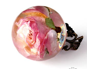 Pink Rose ring large