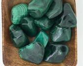 Malachite Tumbled - Tumbled Malachite - Heart Chakra - Insomnia Help - Reiki - Energy Healing