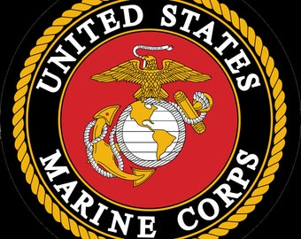 Marines logo Edible  Cake, Cupcake/Cookie topper