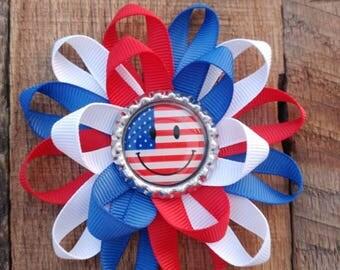Fourth of July hair bow, Fourth of July bow, Fourth of July, 4th of july bow, 4th of july hair bow, independence day bow, hair bow, bow