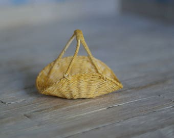 A miniature flower basket
