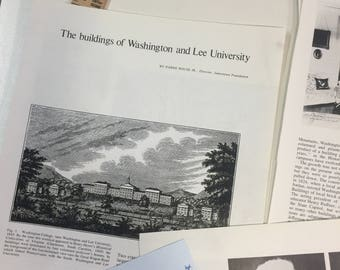 The buildings of Washington and Lee University. Antiques MAGAZINE ARTICLE 1973