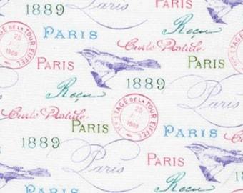 Robert Kaufman Paris in Bloom White Premium 100% Cotton fabric (RK6)