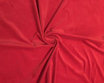 Velvet fabric cotton clothing or furniture Ideal red lycra